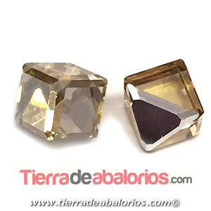 Cubo Swarovski Base Plana 6mm, Golden Shadow