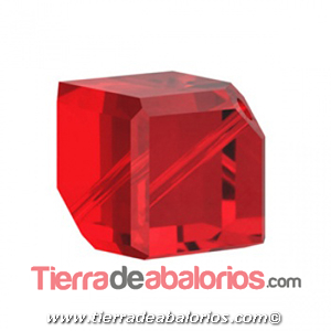 Cubo Diagonal Swarovski 8mm, Light Siam