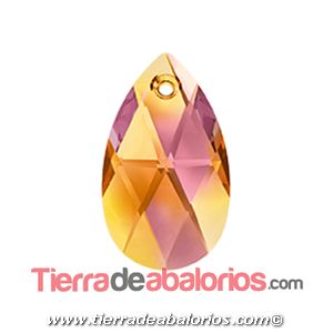 Colgante Pear Shaped Swarovski 16mm, Crystal Astral Pink