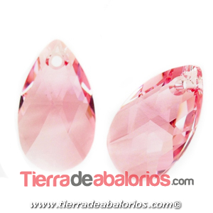 Colgante Pear Shaped Swarovski 16mm, Light Rose