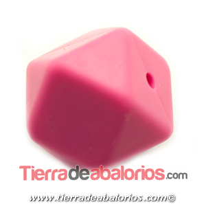 Hexagono Silicona 16mm Agujero 2mm, Fucsia