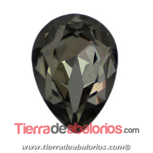 Cabujón Cristal Gota 18x13mm, Black Diamond