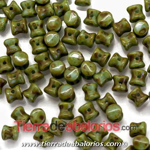 Pellet Diabolo Beads 4x6mm Op. Turquoise Travertin (50 uds)