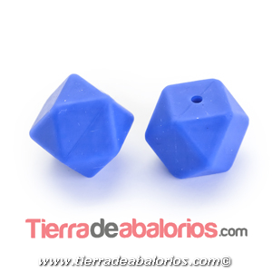 Hexagono Silicona 16mm Agujero 2mm, Azul Añil