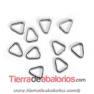 Anilla Triangular Abierta 11,5x10mm, Plateada