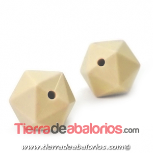 Hexagono Silicona 16mm Agujero 2mm, Beige