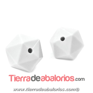 Hexagono Silicona 16mm Agujero 2mm, Blanco