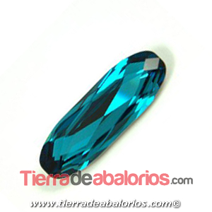 Swarovski Long Classical Oval 15x5mm, Indicolite