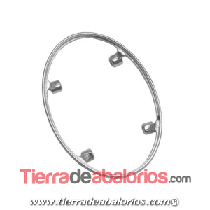 Engaste Oval 31x23mm, Plata de Ley