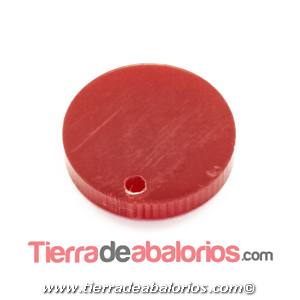 Colgante Plexyglass Moneda 17mm, Rojo
