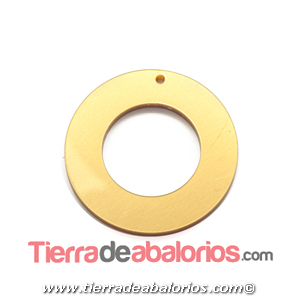 Colgante Plexyglass Moneda 45mm, Dorado