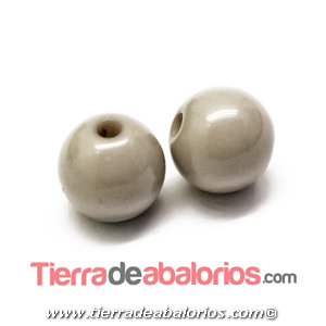 Resina Bola 8mm Agujero 1,8mm Gris