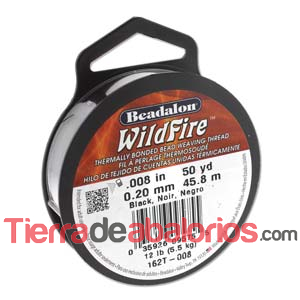 Hilo WildFire Beadalon 0.20mm, Blanco (1 metro)