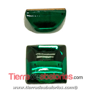 Cabujón Plexyglass Square 8x8mm, Emerald