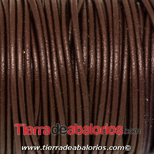 Cordón de Cuero 2mm - Marron Chocolate
