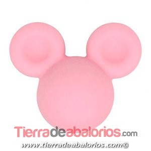 Mickey Mouse de Silicona 24x20mm Agujero 2,5mm, Rosa
