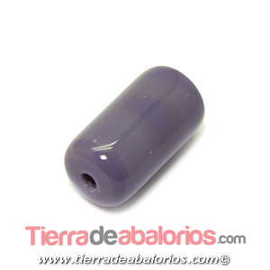 Barril Cristal Checo 20x11mm Agujero 2,5mm, Violeta