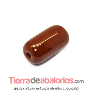 Barril Cristal Checo 20x11mm Agujero 2,5mm, Marrón