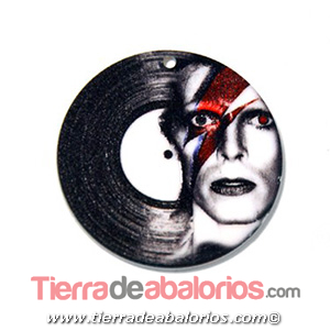 Colgante Metacrilato Disco 40mm David Bowie