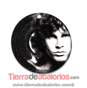 Colgante Metacrilato Disco 45mm Jim Morrison