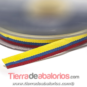 Cinta 10mm Bandera de Colombia