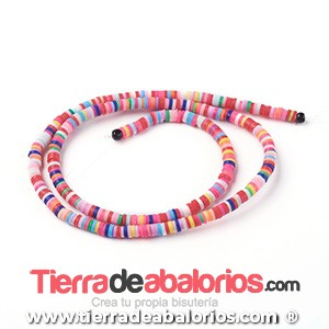 Aros de Arcilla 4x1mm Agujero 1mm, Multicolor