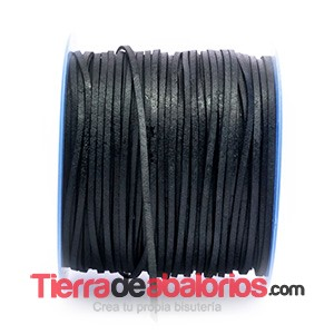 Lato Tireta Plana 2,6mm, Negro