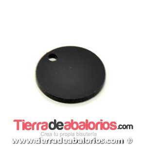 Colgante Metacrilato Moneda 19mm, Negro
