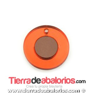 Colgante Metacrilato 23mm Naranja y Marrón