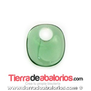 Colgante Metacrilato Oval 18x16mm Agujero 5,3mm, Verde