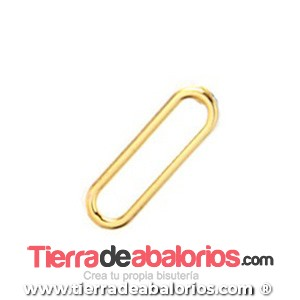 Pendiente Rectangular 20x6mm, Dorado