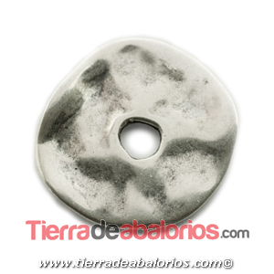 Donut 30mm, Agujero Central 6mm; Plateado