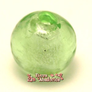 Cristal Veneciano Bola 12mm Agujero 1,8mm, Light Green