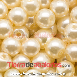 Perla de Cristal Checo 4mm, Crudo