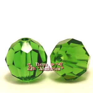 Bola Facetada Swarovski 8mm, Fern Green