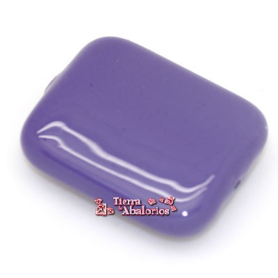 Resina Rectangular 25x23mm Agujero 1,9mm, Violeta Metalizado