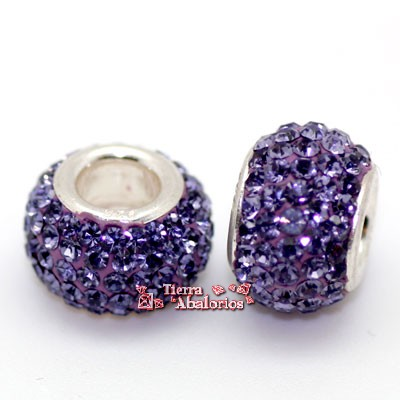Bola 12mm Agujero 5mm Tanzanite; Plata de Ley