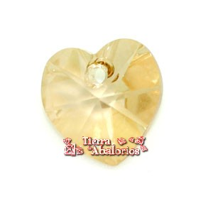 Corazon Swarovski 10,3x10mm Golden Shadow