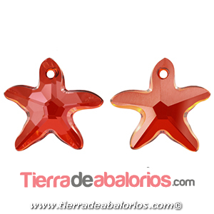 Estrella de Mar Swarovski 16mm, Red Magma