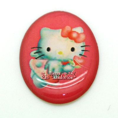 Cabujon Oval 18,5x24,5mm Kitty