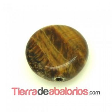 Ojo de Tigre Moneda 12x5mm
