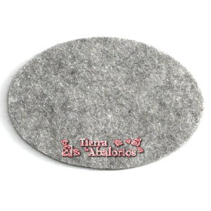 Ovalo 70x50mm Gris