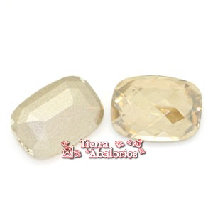Cabujon Baguette Swarovski 18x13mm, Golden Shadow