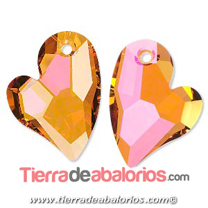 Swarovski Colgante Corazón Devoted 17mm, Cristal Astral Pink