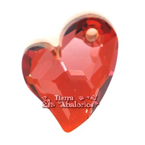 Swarovski Colgante Corazón Devoted 17mm, Red Magma