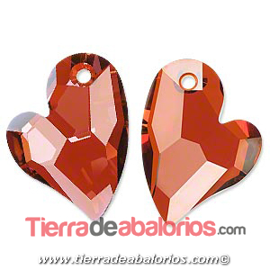 Swarovski Colgante Corazón Devoted 2 U Heart 36mm, Red Magma
