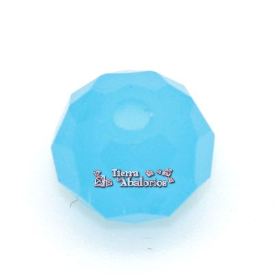 Bola Rondel Facetada 8x6mm Caribe Blue