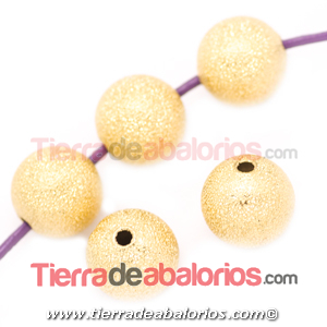Bola Brillo 6mm Agujero 1,5mm, Dorada