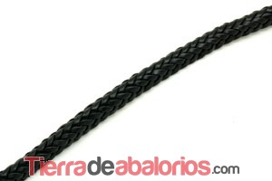 Cuero Trenzado Media Caña 10x5mm Natural (20cm)
