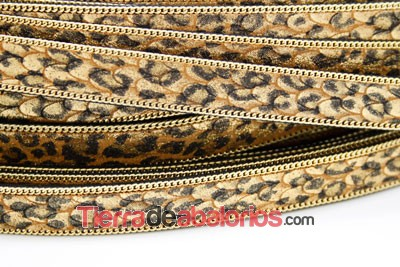 Tira Imitación Serpiente de 14mm Color Leopardo con Cadena D